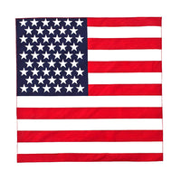 4-12 Pack American Flag Double Sided Bandana 100% COTTON Handkerchief Head Wrap