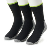 Jobsite 6 Pairs Men's Working Cushioned Crew Sock with Soil Guard
