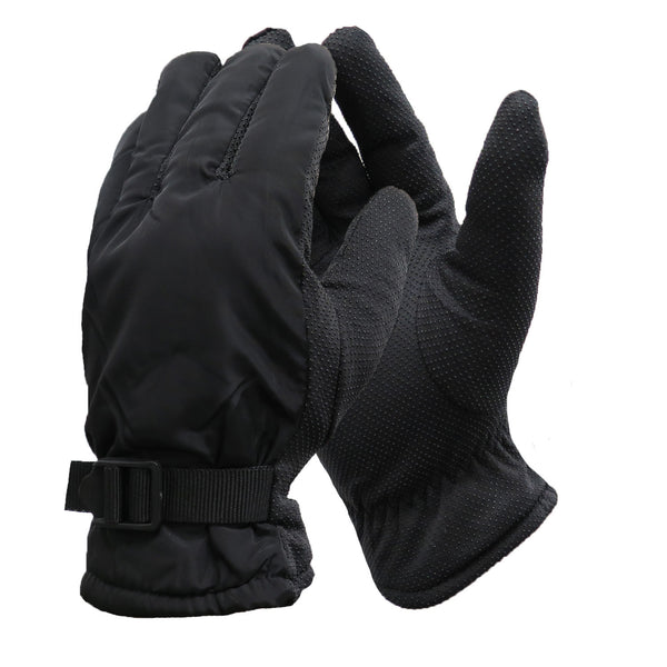 Men's Winter Lifestyle Sports Waterproof Palm Grip Thinsulate Lined Ski Snow Gloves