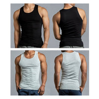 Value Packs of Men's Black Grey & White Ribbed 100% Cotton Tank Top A Shirts Undershirt
