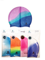 Unisex Silicone Swimming Cap for Adult and Children, Tie Dye