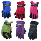 Sport World Blue Unisex Winter Fleece Gloves With Strap Assorted Color 3-Pack