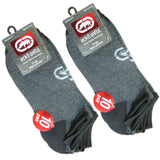 Marc Ecko Unlimited Unltd. Men's Low Cut Black/Grey Marled Athletic Socks 20-Pack