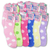 Women's Soft & Cozy Long Colorful Fuzzy Casual Winter Socks (with patterns)