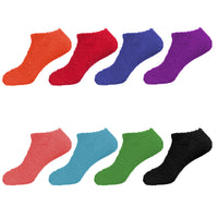 Fuzzy Soft Warm Womens Short Ankle Socks Winter Solid Lady Girls Hosiery US Ship