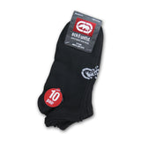 10, 20 or 30 Pairs of Ecko Men's Black Quick Dry Logo No Show Socks Athletic