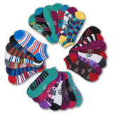28 Pairs Ecko Red Women's Fun Print Low Cut Ankle Casual Socks