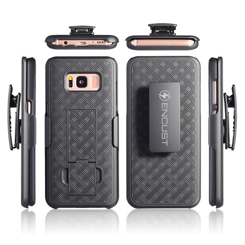 Encust Slim Carbon Fiber Shockproof Classic Case Cover for Samsung Galaxy S8 Plus/S8 Phone