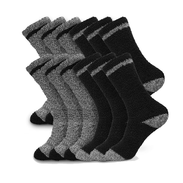Beverly Hills Polo Club Men's Thick Fuzzy Winter Slipper Casual Socks