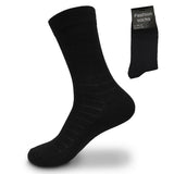 Men's Cotton Dress Mid Calf Solid Black Socks