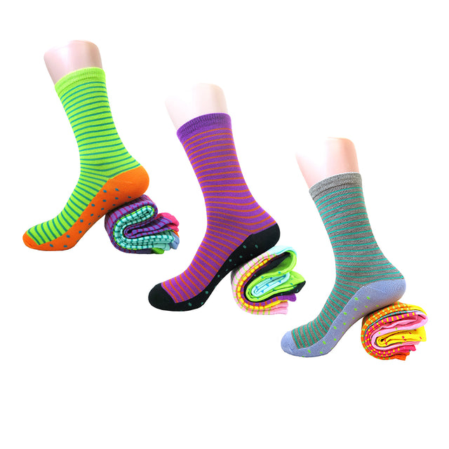 (6 Pairs) Fun & Colorful Women's Casual Assorted Crew Socks