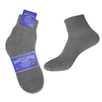 3 or 6 Pairs Loose Fit Non Binding Diabetic Quarter Length Socks for Men & Women