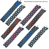 New Women's Assorted Color Over Knee High Polka Dot Cotton Socks Size 9-11
