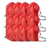 12 Pack Folding Sport Backpack Drawstring Bag For Home, Travel And Storage Use