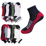 ECKO UNLTD Men's No-Show 1/2 Ankle or Quarter Cushion Socks 6 Pairs Random Colors