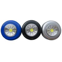 COB 3-Pack Battery Powered Round LED Touch Light Under Cabinet Led Wireless Wall Lamp Easy To Use Closet Kitchen Night Lights For Home