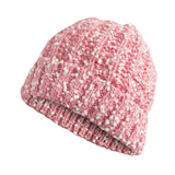 Women's Fuzzy Marbled Knit Thermal Lock-in-Heat Winter Beanie Hat