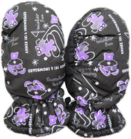Magg Kids Toddlers Fleece Lined Winter Snow Print Glove Waterproof Mittens