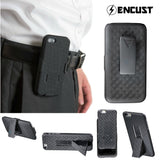 Encust iPhone 7/7+, 6/6S Cover Case With Kickstand Holster Phone Belt Clip Combo