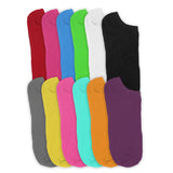 12 Pairs Women's Bright Mix Colors No Show Low Cut Ankle Casual Socks