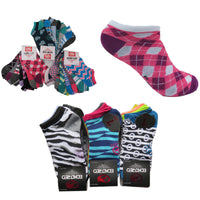 21 Pairs Ecko Red Women's Fun Print Low Cut Ankle Socks Assorted