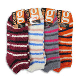 4 or 8 Pairs Cozy Fuzzy Winter Women Socks,Gripper Slippers Socks,Fluffy No Show House Socks Lightweight Non Skid Bottoms