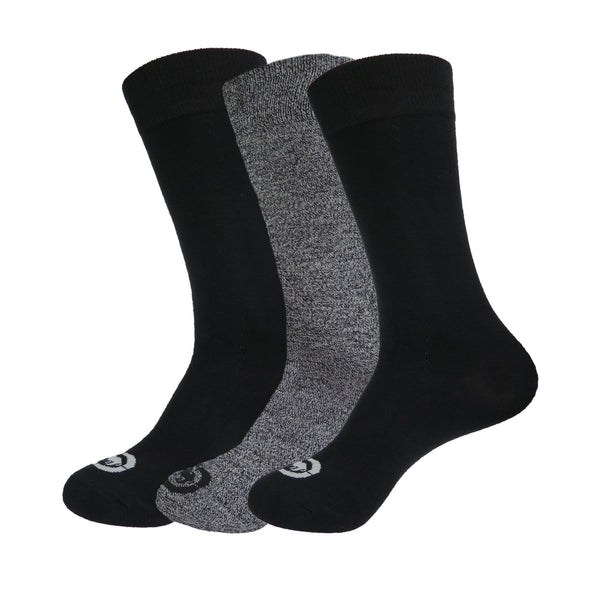 6 or 12 Pairs of Ecko Men's Black Acrylic Quick Dry Crew Winter Socks