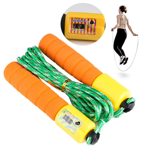 Sports Fitness Digital Jump Ropes With Counter for Kids and Adults Home