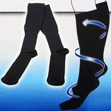 2 Pairs Men & Women Anti Fatigue Miracle Socks Firm Black Compression Energy Sox Therapeutic