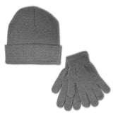 Women's Basic Hat & Gloves Winter Lifestyle Bundle Set