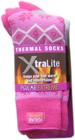 Polar Extreme Xtralite Thermal Fleece Lined Acrylic Winter Socks 2-Pack