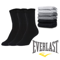 3 or 6 Pairs Everlast Men's Regular Tube Crew Socks Casual or Athletic