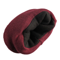 4 Pack Men's Thermal Fleece Lined Winter Insulated Cuff Beanie Hat