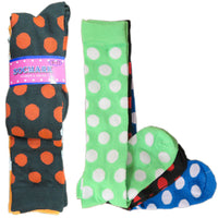 New Women's Assorted Color Knee High Polka dot Socks Cotton Size 9-11