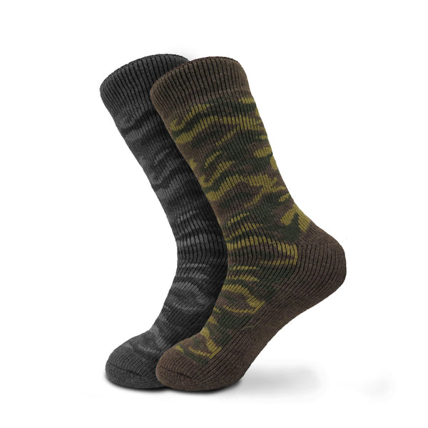 Men's Polar Extreme Super Warm Extra Heavy Thermal Acrylic Winter Socks With Patterns