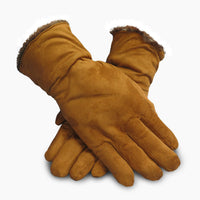 Polar Extreme Women's Genuine Suede Cold Weather Gloves with Warm, Soft Lining