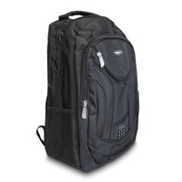 18 1/2 Inch Black Multi Purpose School Book Bag / Travel Carry On Backpack Bag
