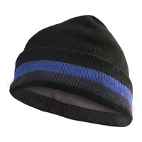 Mens Thermal Cuffed Beanie Winter Fleece Lined Folded Hat Cap