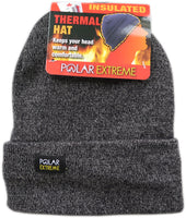 Polar Extreme Men's Thermal Winter Fold Over Fleece Lined Knitted Skull Hat Cap