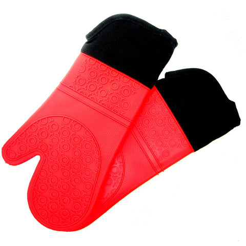 Heat Resistant Red Silicone Pot Barbecue Grill Home Holders