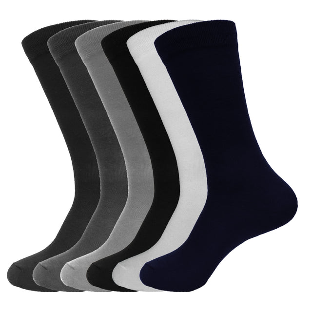 Women's Solid Basic Dress or Casual High Crew Socks, Assorted Colors