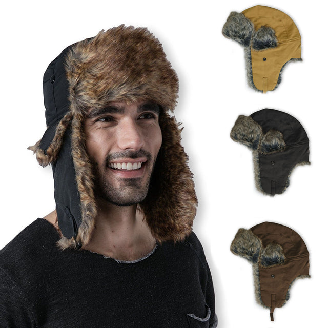 Men's Winter Warm Russian Hat Trooper Snow Ski Ushanka Waterproof Warm Lifestyle