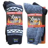 Polar Extreme Xtralite Thermal Lightweight Fleece Lined Acrylic Winter Socks 2-Pack