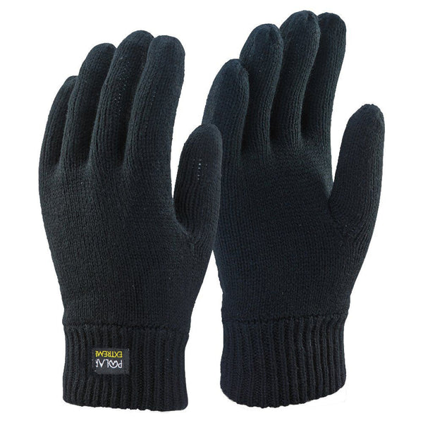 Winter Gloves For Men | Cold Weather Heated Snow Glove | Men's Knit Insulated Thermal Insulation Black Gloves