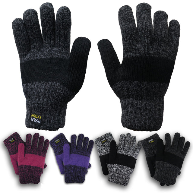Polar Extreme Lifestyle Women's Thermal Insulated Super Warm Winter Gloves
