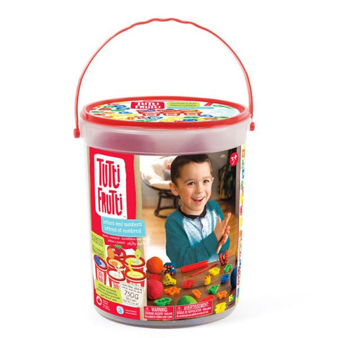 Tutti Frutti - Letters and Numbers Bucket Scented Modelling Dough Kit