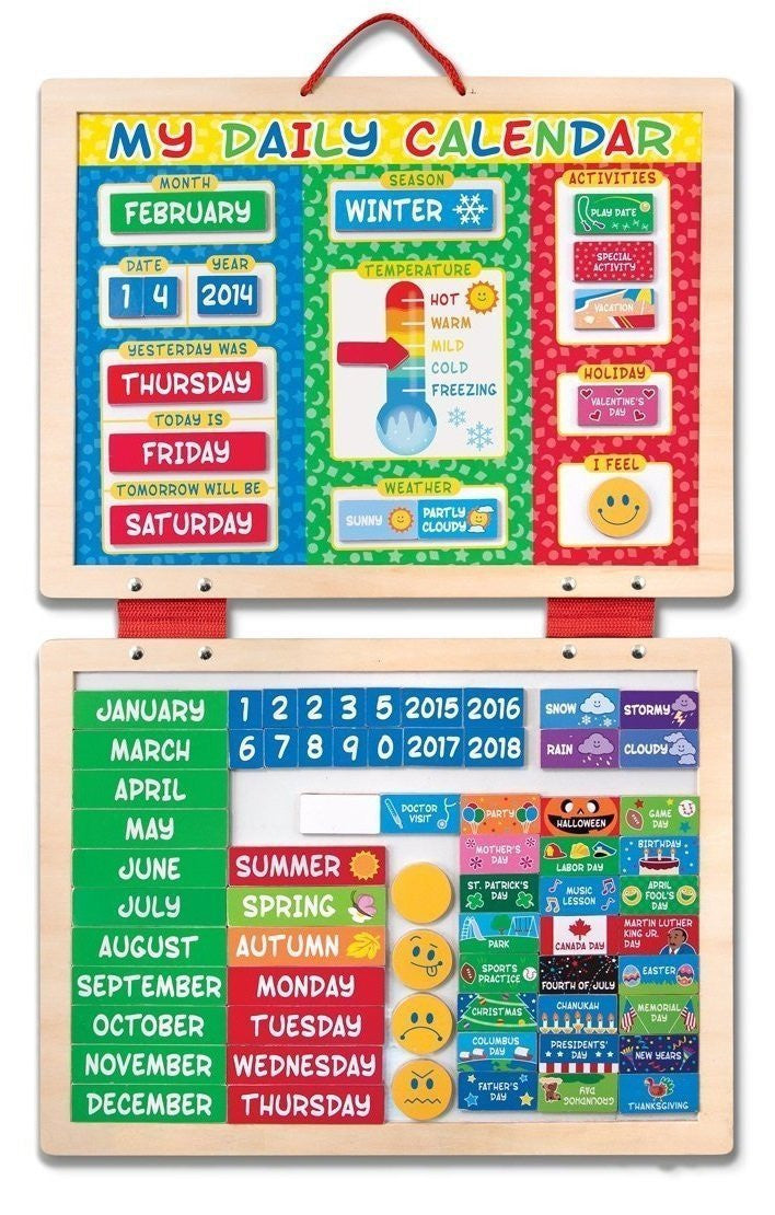 Melissa & Doug - My First Daily Calendar - Yutopia - 1