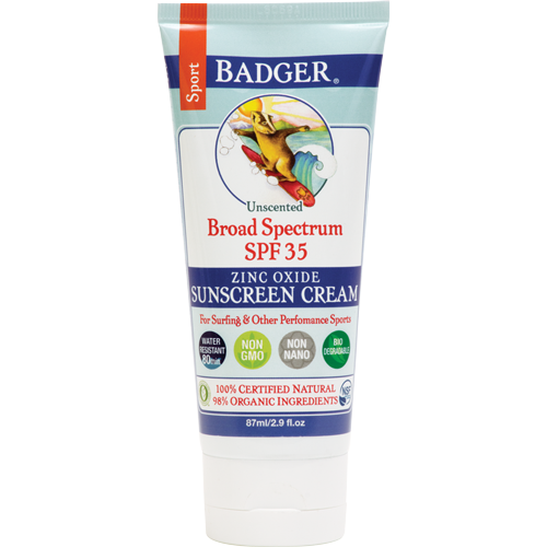 Badger - Sport Sunscreen Cream SPF 35 - Yutopia