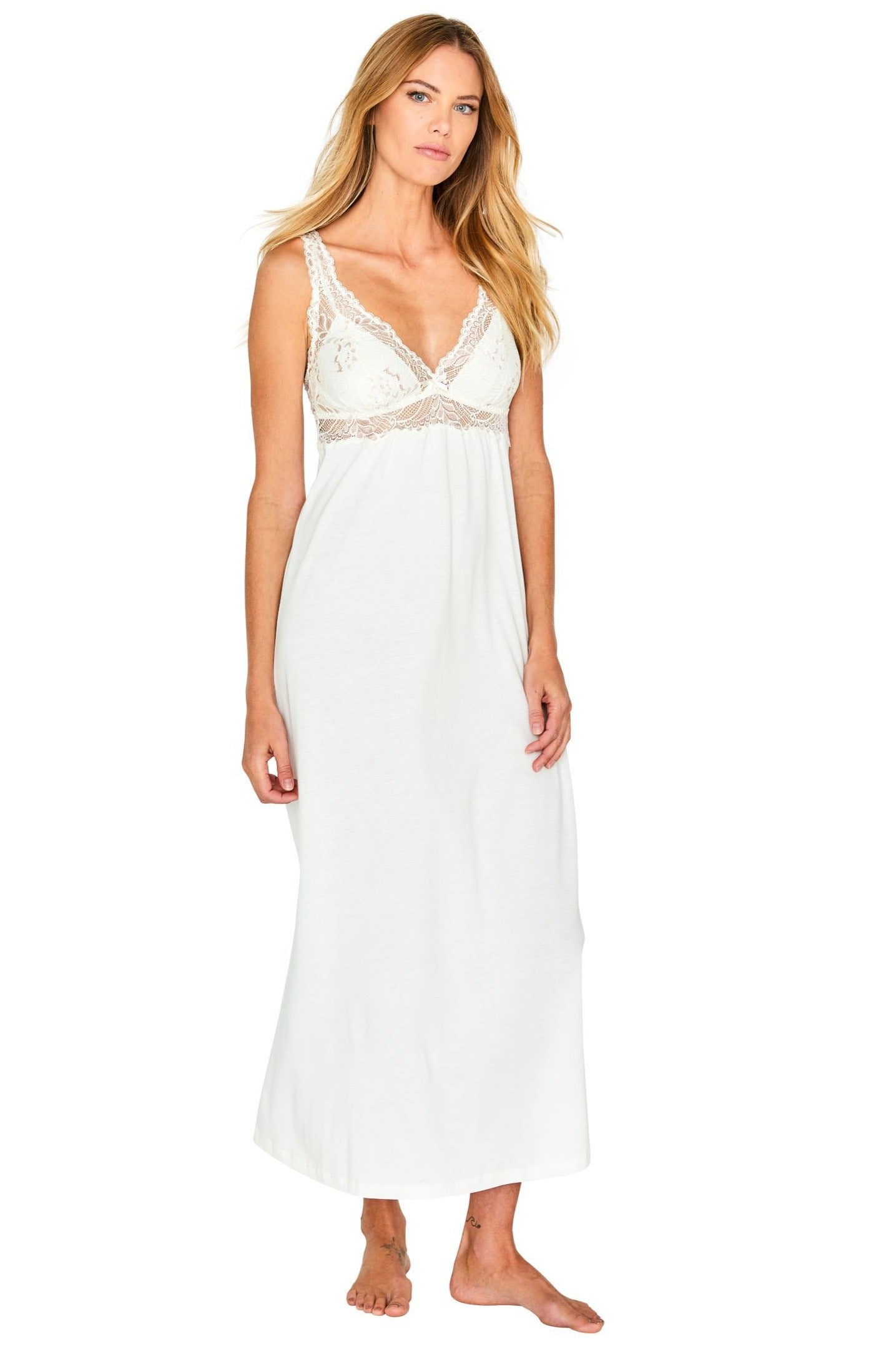 Alissa Tank Long Gown Robe Set