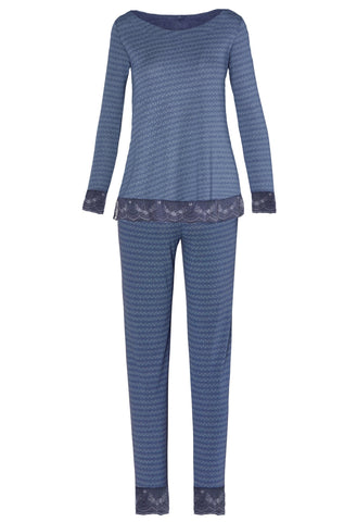 Venice Long Sleeve Bateau Neck PJ Set